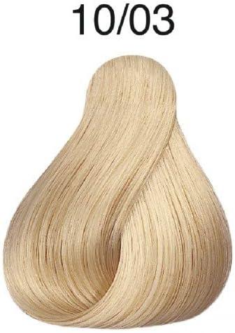 Wella Professionals Koleston - Tinte para cabello (60 ml), 10/03 rubio luminoso natural/dorado claro
