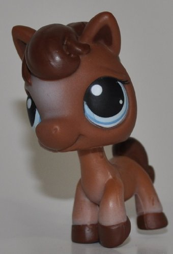Figure Pet Loose Shop Littlest (Horse #337 (No Saddle: Brown) - Littlest Pet Shop (Retired) Collector Toy - LPS Collectible Replacement Single Figure - Loose (OOP Out of Package & Print))