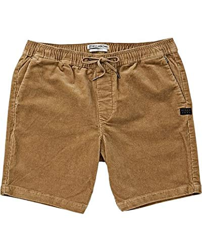 - Billabong Men's Larry Layback Cord Shorts Gravel X-Large