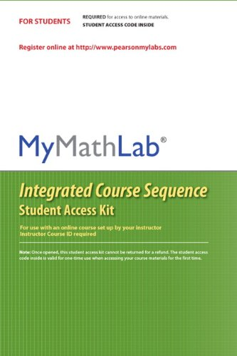 Mymathlab Coursecompass Integrated Course Sequence    Standalone Access Card
