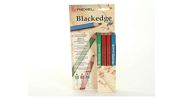 Assorted Card of 12 Blackedge A Carpenter/'s Pencils