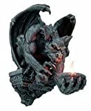 Menacing Winged Gargoyle Candle Holder Wall Sconce Sculpture Wall Decor 12.5 Inches