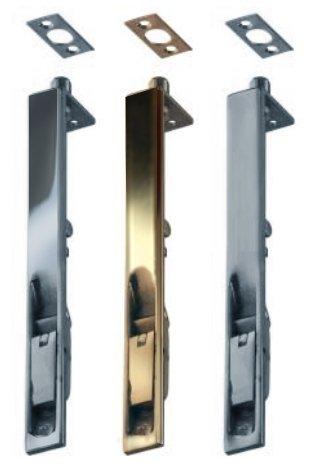 "FLUSH 200mm//8/"" DOUBLE DOOR BOLT Polished Chrome Slide French Folding Lock//Catch"