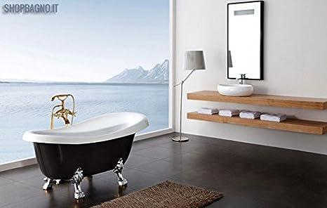 Vasca Da Bagno Nera : Vasca da bagno nera stile retrò cc17b: amazon.it: fai da te