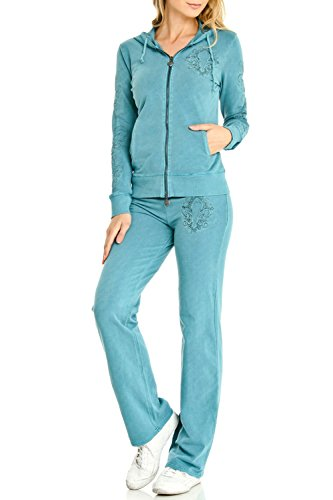 Embroidered Activewear Pant Set - 6