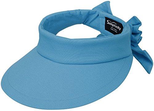 Simplicity Women SPF 50+ UV Protection Wide Brim Beach Sun Visor Hat,Turquoise