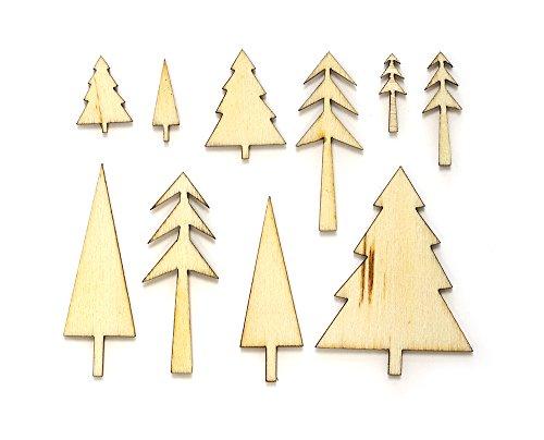 UPC 814543311789, Wonderland Laser-Cut Wood Veneer Shapes-Trees 69/Pkg