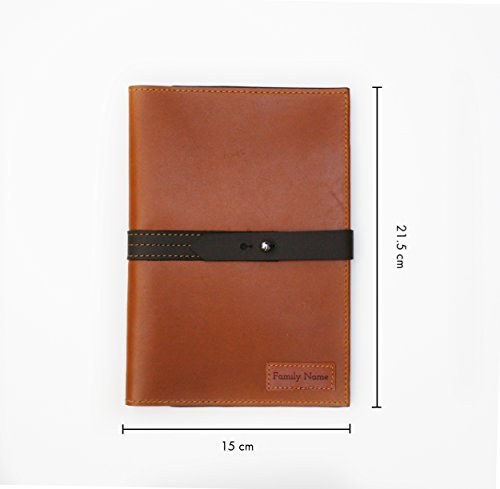 Handmade Curious Family Passport Holder - Leather Travel Multiple Passports Wallet by Handmade Curious (Image #3)