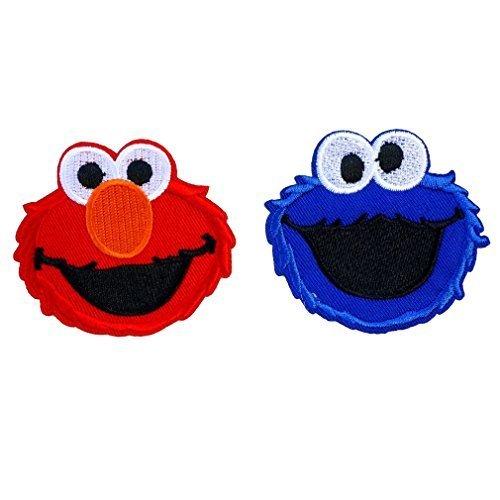 How To Sew Applique (Cookie Monster Sesame Street Elmo Cartoon Iron on Patch Logo Fabric Applique)