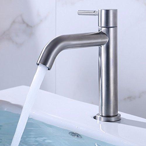 MMYNL TAPS MMYNL Waschtischarmatur Bad Mischbatterie Badarmatur Waschbecken Antike 304 Edelstahl Einzelnen kalten Becken Badezimmer Waschtischmischer
