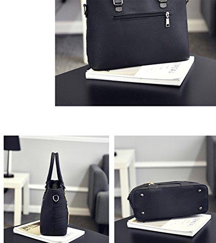 Tote Borse a Designer donna mano Fashion Borse Satchel Handbag a in pelle Messenger nero nero PU spalla per qWwYnEpH