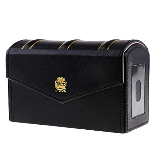 - Prettyia PU Leather Storage Box for 15 Slab Capsule Coin Display Holders Container - Black, 17.5 x 11 x 7cm