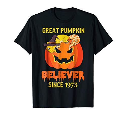 Great Pumpkin Believer since 1973 shirt 45th birthday gifts