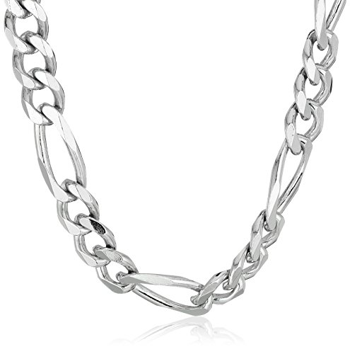 Men's Sterling Silver Italian 6.80mm Solid Figaro Link-Chain Necklace, 24