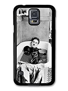AMAF ? Accessories Charlie Chaplin Having Bath Black & White case for Samsung Galaxy S5 by lolosakes
