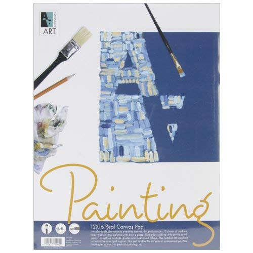 Canvas Pad- 12x16 Inches with 10 Sheets [並行輸入品]   B07T8NZV2X