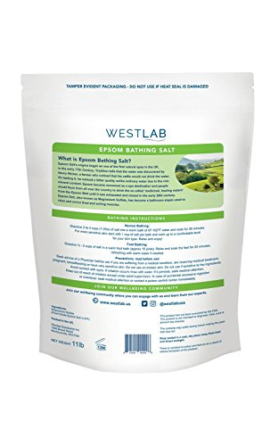 Westlab Epsom Salts - Reviving - 11lb Resealable Bag by Westlab (Image #1)