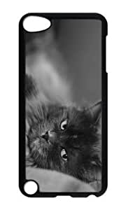 Ipod 5 Case,MOKSHOP Cool cat nasty look Hard Case Protective Shell Cell Phone Cover For Ipod 5 - PC Black