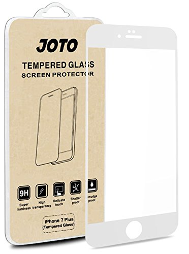 JOTO iPhone 8 Plus / 7 Plus Screen Protector, Full Screen Tempered Glass Screen Protector Film, Edge to Edge Protection Screen Cover Saver Guard for Apple iPhone 8 Plus/iPhone 7 Plus 5.5 Inch -White ()