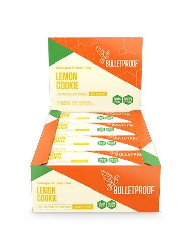 BulletProof Collagen Protein Bars, Lemon Cookie, 12 Count