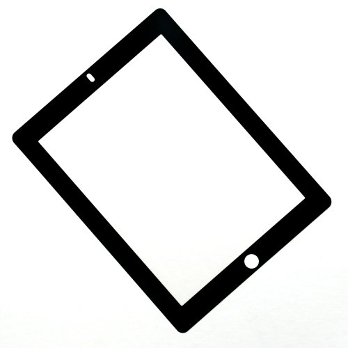 Rolling Ave. Bubee Bubble-Free Screen Protector for iPad 2 and iPad 3 - Black - Worth Stores Ave