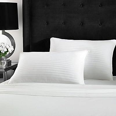 Beckham Hotel Collection Gel Pillow (2-Pack) - Luxury Plush Gel Pillow - Dust Mite Resistant & Hypoallergenic