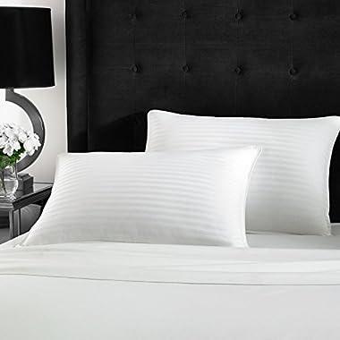 Beckham Hotel Collection Gel Pillow (2-Pack) - Luxury Plush Gel Pillow - Dust Mite Resistant & Hypoallergenic -Queen