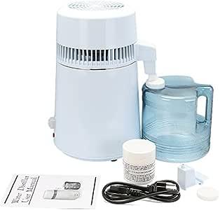 TravelerK Destilador de Agua 4L Purificador Filtros de Agua Pura Destilación de Agua de Acero Inoxidable Interno ...