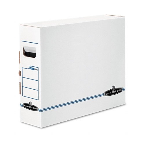 Bankers Box : X-Ray Storage Box, Film Jacket Size, 5 x 14-7/8 x 18-3/4, White/Blue, 6/Ctn -:- Sold as 2 Packs of - 6 - / - Total of 12 Each
