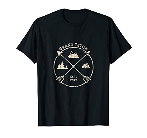 Grand Tetons National Park Shirt, Camping Wyoming Gift
