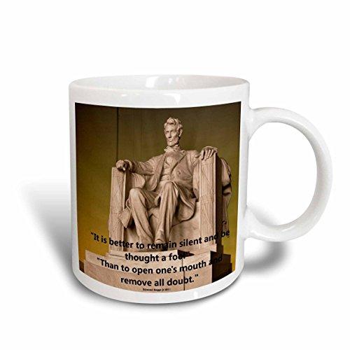 3dRose Lincoln Memorial Ceramic Mug, - Memorial Mug