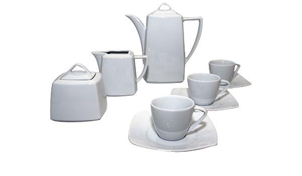 Santa Clara Nova Blanco - Juego de café 12 servicios, 27 piezas: Amazon.es: Hogar