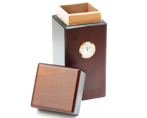 16 Cigar Vertical Humidor Authentic Hand Made Spanish Cedar Wood Cuban Style Latin American Made Humidors, Luxurious Cigar Boxes and Cigar Storage Guaranteed for Life By BCIC Cigar Co Because ()