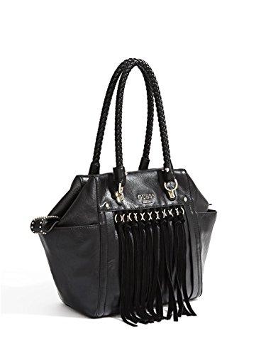 Bolso de hombro negro Guess para mujer, colección Beverlywood