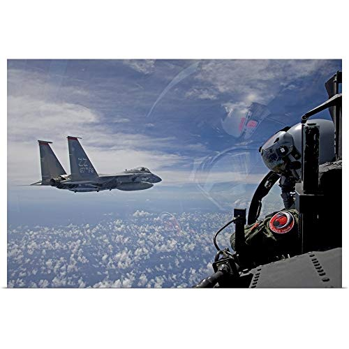 GREATBIGCANVAS Poster Print Entitled an F-15 Eagle Pilot Flies in Formation with his Wingman by HIGH-G Productions 18