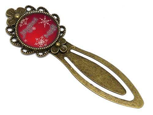 Marcadores libros resina Feliz Navidad decoración rojo abeto escamas blanco latón regalos personalizados regalo de Navidad cumpleaños invitados Día de la Madre pareja
