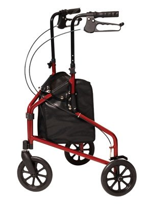 (3-Wheel Cruiser: GF 3-Wheel Cruiser, Aluminum Rollator/CS Metallic Burgundy)