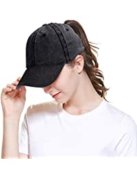 a9e6d0b48f1 Women Men Baseball Cap Ponytail Hat High Bun Sun Hats Trucker Hat