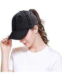 Women Men Baseball Cap Ponytail Hat High Bun Sun Hats Trucker Hat f9a9334d98c2