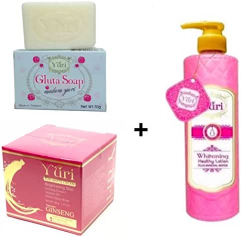 YURI WHITENING BODY GINSENG SET LOTION + CREAM + SOAP FACE WHITENING SKIN by addTOchart