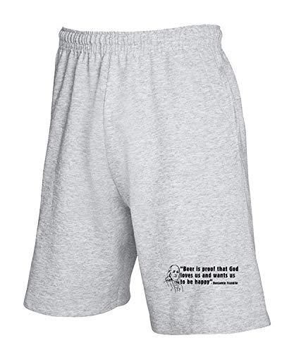 Grigio T Franklin Tuta shirtshock Trk0265 Ben Pantaloncini wzOU6v