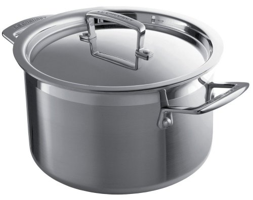 Le Creuset 3-Ply Stainless-Steel 6-1/3-Quart Covered Casserole
