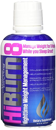 HiBurn8 - Night Time Weight Loss Formula - Snooze and Burn Fat from Skinny Body Care 16 fl oz.