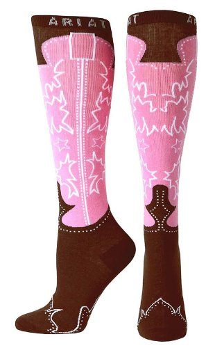 Ariat Women's Western Boot Knee High Socks,Brown,One Size ()