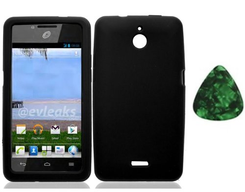 For Huawei Valiant Y301 / Huawei Ascend Plus H881c / Huawei Ace Silicone Jelly Skin Cover Case Black + Free Green Stone Pry Tool]()