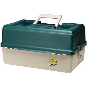 Amazon Com Plano 6 Tray Tackle Box 76 Comp Green Bge
