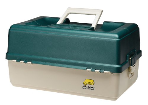 Plano 6 Tray Tackle Box 76 Comp Green/Bge 9606