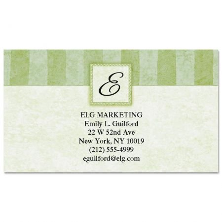 (Tailored Elegance Initial Business Cards - Set of 250 2