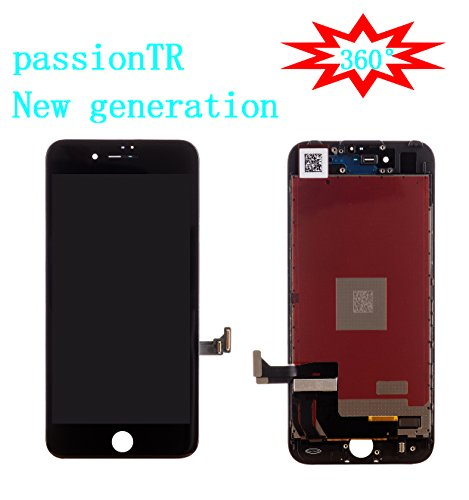 Sun Assembly - passionTR for Black iPhone 7 Plus 5.5 Inch LCD Screen Replacement 360 Degrees All Angles Under Sunglasses 2nd Generation Digitizer Frame Assembly Full Set Touch Screen Display