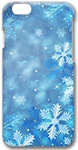Blue Snowflakes Apple iPhone 6 Case, 3D iPhone 6 Cases Hard Shell Cover Skin Casess